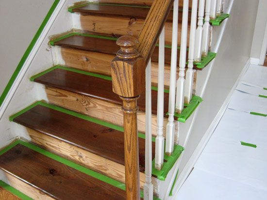 Great How To Remove Carpet, Stain Wood And Paint The Risers On A Staircase