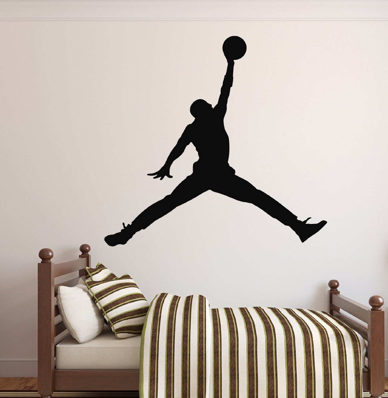 Amazon Com Michael Jordan Wall Decal Basketball Wall Decor Home Decor Jumpman Wall Deca Basketball Wall Decals Sports Wall Decals Basketball Wall Decor