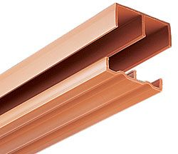 Knape And Vogt P2419tan48 48 1219mm Plastic Track Set For 3 4 Thick Bypassing Doors Tan The Hardware Hut Cabinet Doors Tool Design Doors