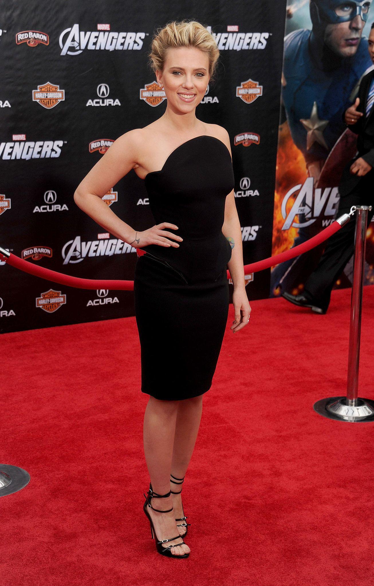 Scarlett Johansson at The Avengers LA premiere, 2012 | Pinterest
