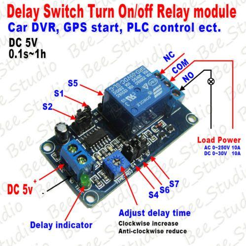 Dc 5v 9v 12v Adjustable Timing Delay Time Timer Turn On Off Relay Switch Module Ebay Time Timer Relay Dc 5v