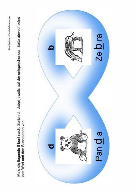 Arbeitsblatt zur visuellen Differenzierung b und d - LRS | Craft