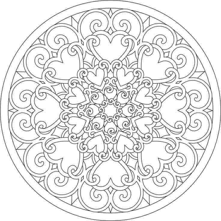 Mandala de corazones | Bibliotecas Públicas de Cártama | mandalas ...