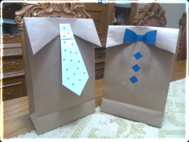 Dia dos pais: Sacolinha decorada para embrulhar o presente