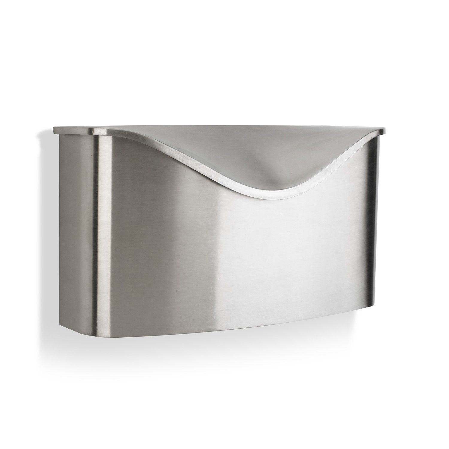 Postino Mailbox Stainless Steel Wall Mount Mailbox Wall Mounted Modern Mailbox Stainless Steel Mailbox
