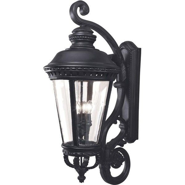 Feiss castle four light 37 inch outdoor wall lantern black feiss castle four light 37 inch outdoor wall lantern black mozeypictures Gallery