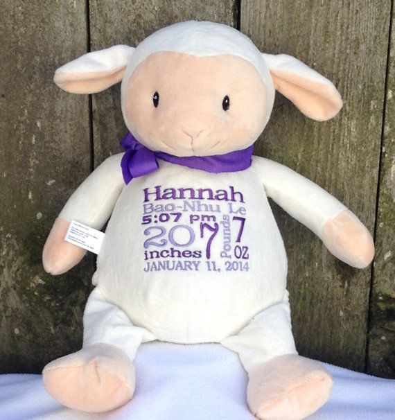 Baby gift personalized baby gift monogrammed lamb by baby gift personalized baby gift monogrammed lamb by worldclassembroidery 3999 negle Image collections