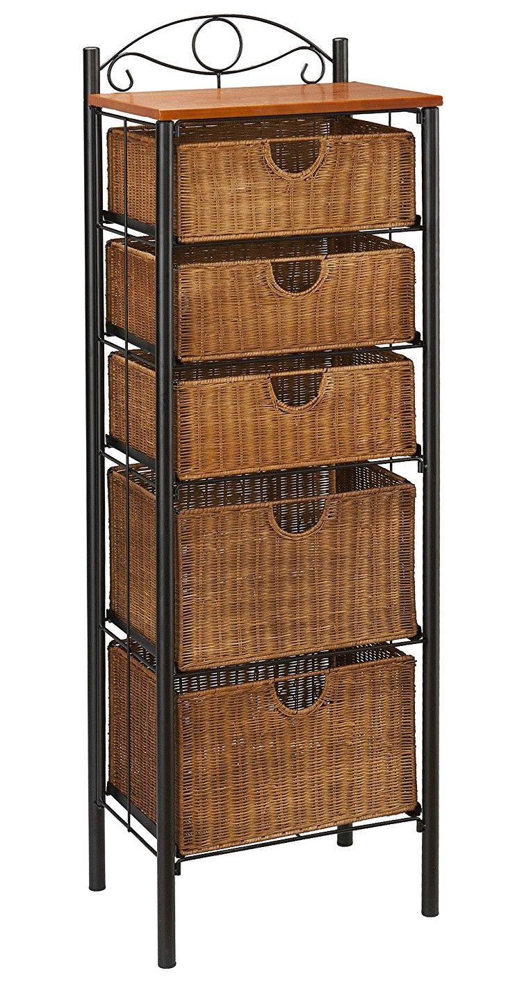 Top 3 Storage Units With Wicker Baskets Around 100 Bathroom