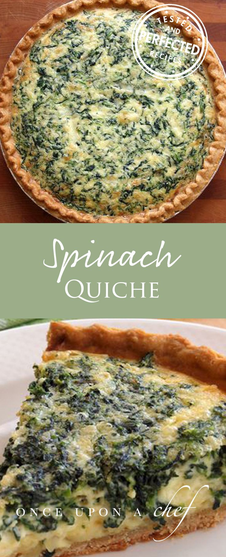 Classic French Spinach Quiche Once Upon A Chef Recipe Breakfast Brunch Recipes Quiche Recipes Recipes