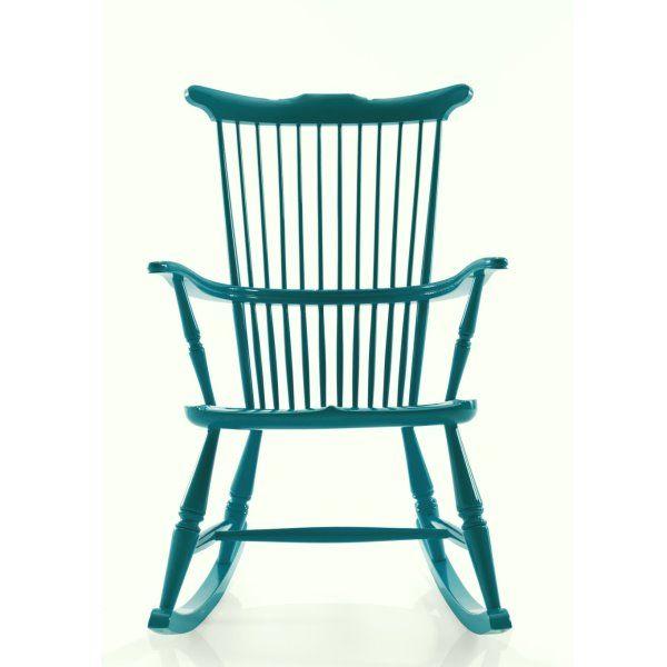sedia-a-dondolo-verde-pavone-pisolo.jpg (600×600) | Sedia ...