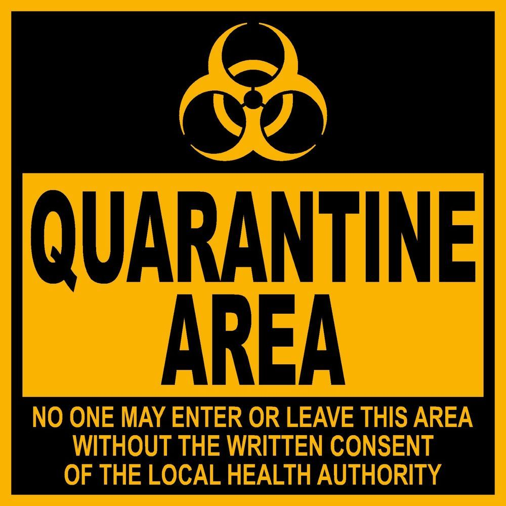9 x 9 pvc sign caution quarantine area stuff i might need 9 x 9 pvc sign caution quarantine area biocorpaavc Image collections