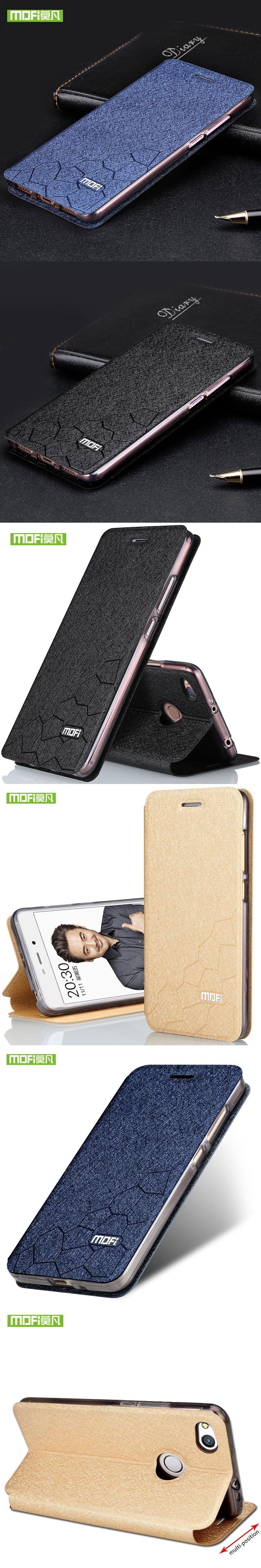 Xiaomi redmi 4X case silicone TPU back flip leather cover original Mofi Xiaomi redmi 4X case