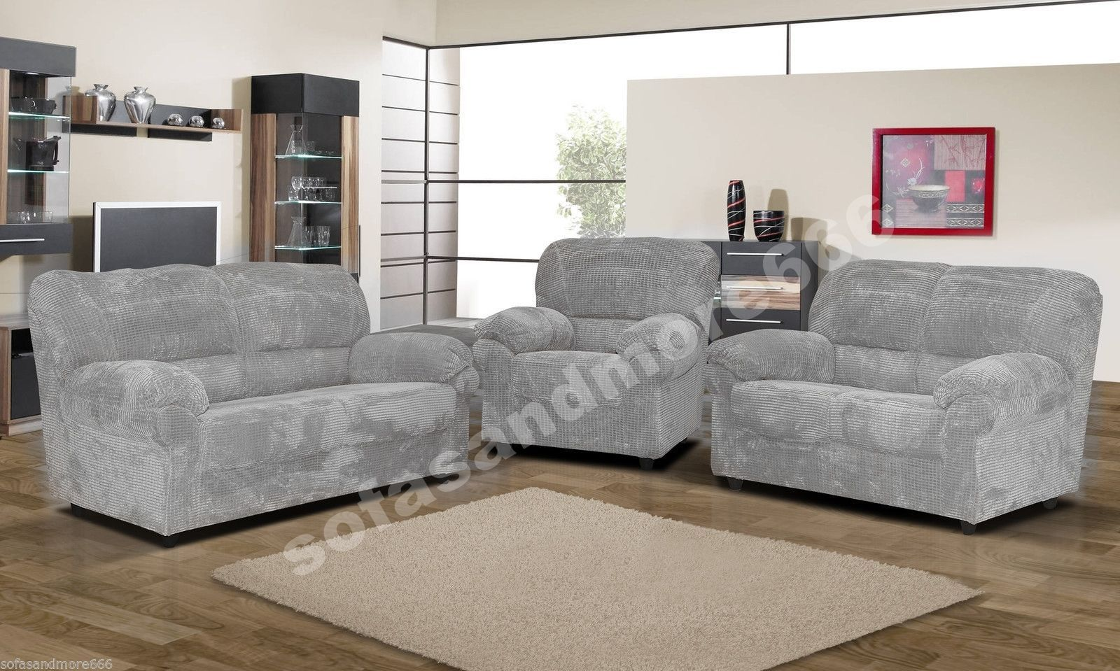 Sofa Set Brand New Black Fabric Candy Fabrics Brown Furniture Chang E 3 Leather