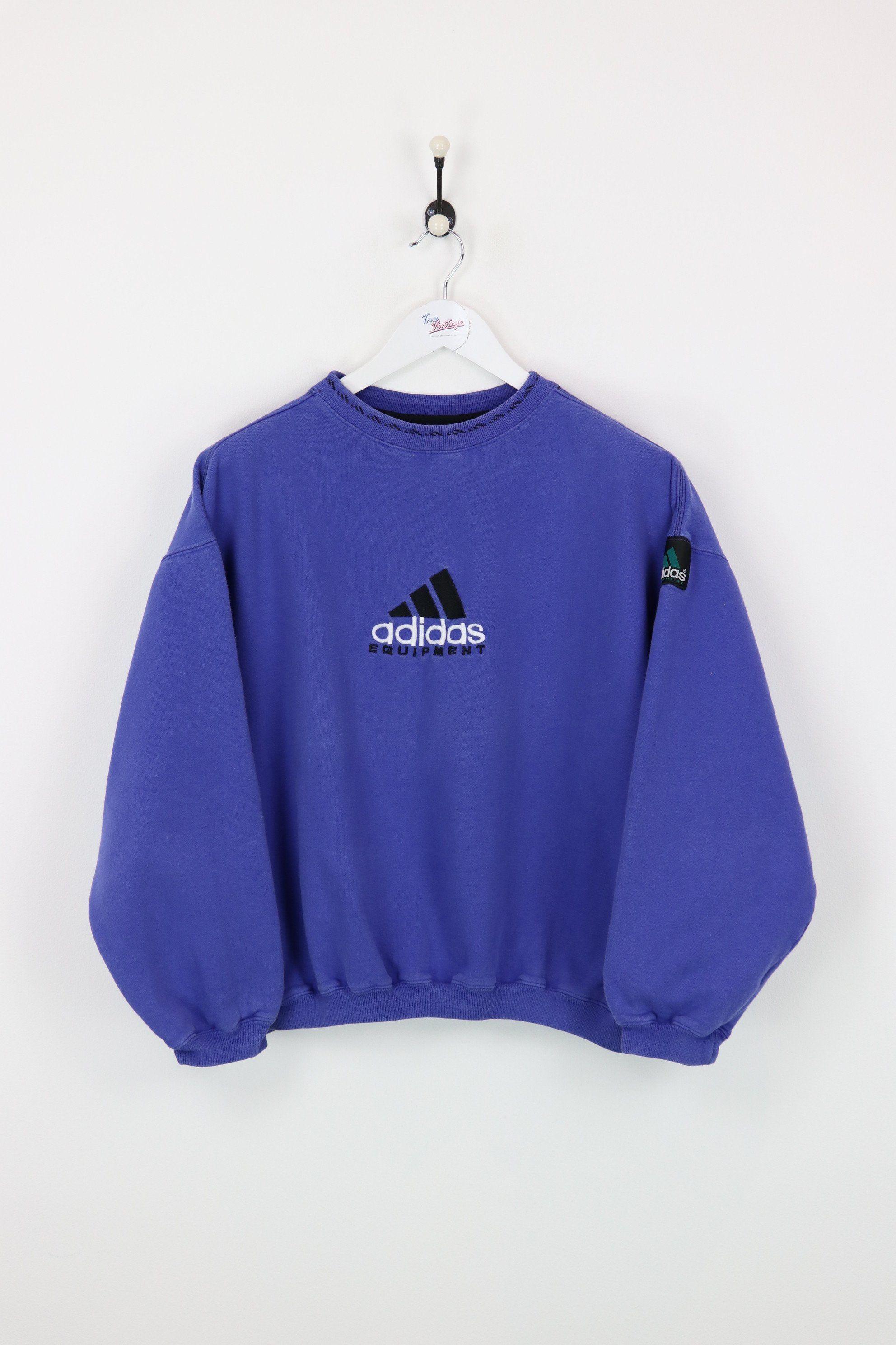 Adidas Equipment vintage Cropped sweatshirt white Depop