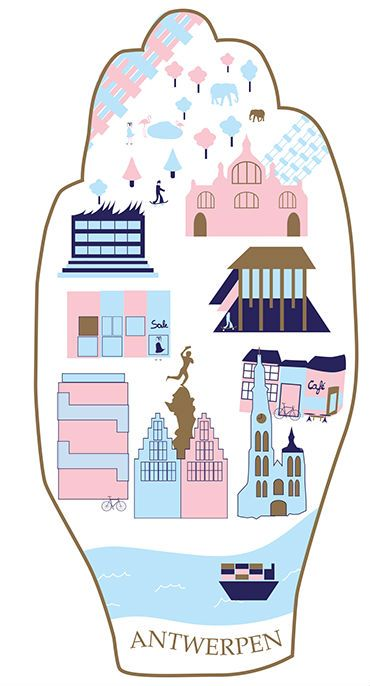 "My design for a cookie box ""Antwerpse handjes"" You can vote here for my design: http://on.fb.me/19lQPlb  xx Fleur"