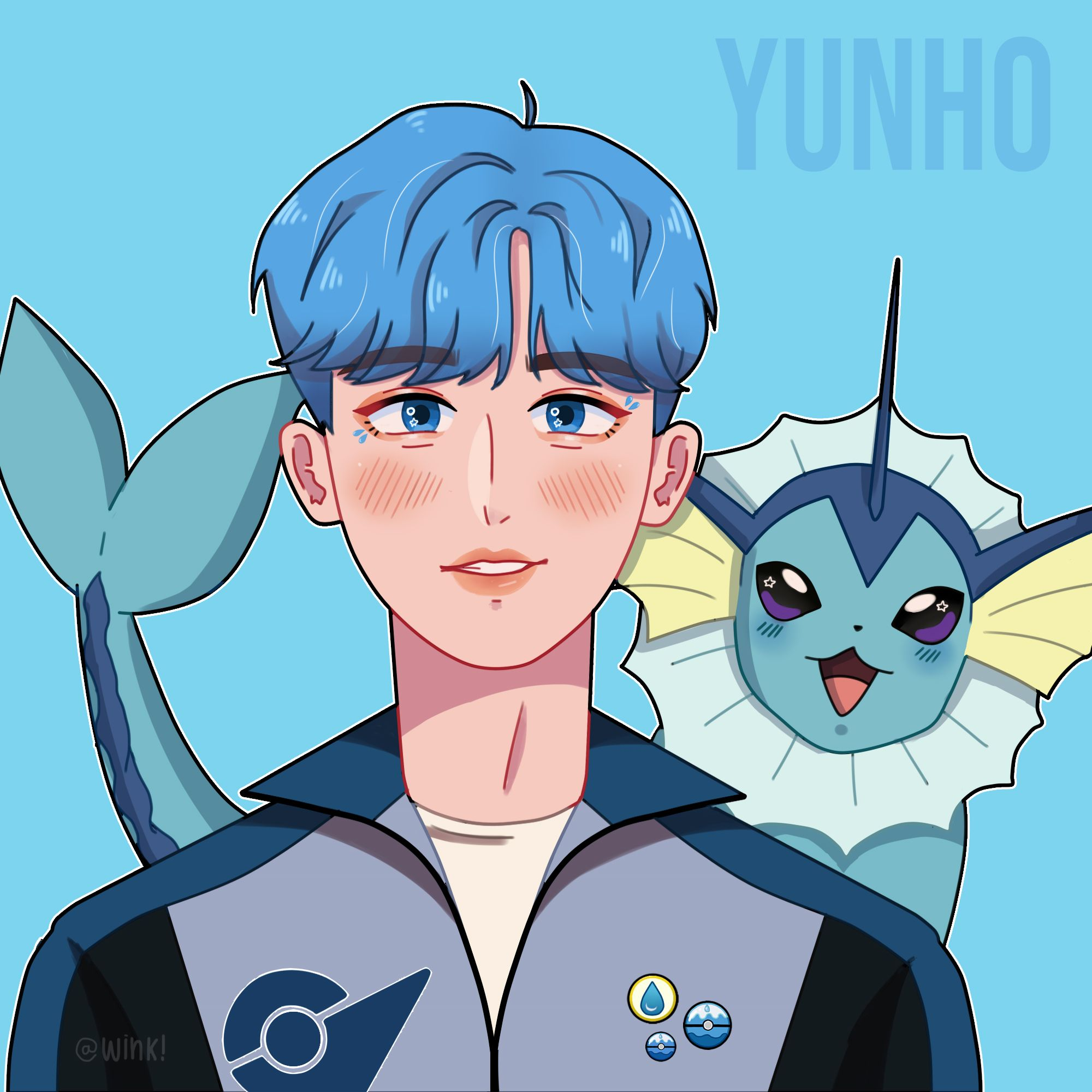 𝒘𝒊𝒏𝒌! 🎉 happy yunho day 🎉 on in 2020 Kpop drawings, Kpop