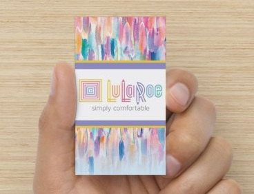 Home office approved lularoe business card full color for Lularoe business card ideas