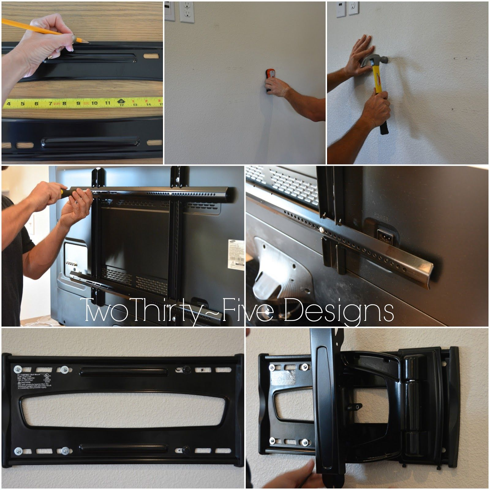 diy wall mounted television hidden cords best crafts on pinterest diy wall wall mount wall. Black Bedroom Furniture Sets. Home Design Ideas