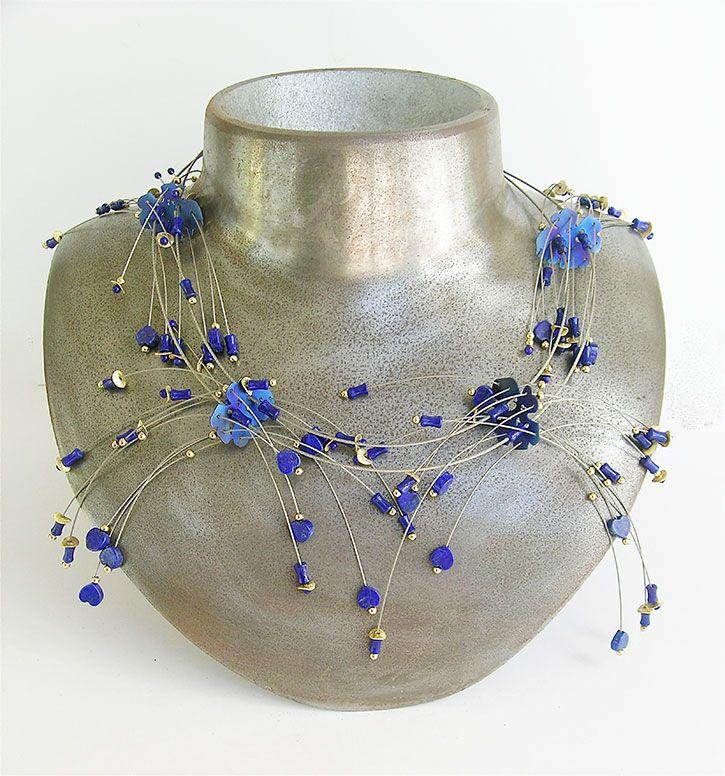 Dampiera Lindleyi necklace by Dorothy Erickson