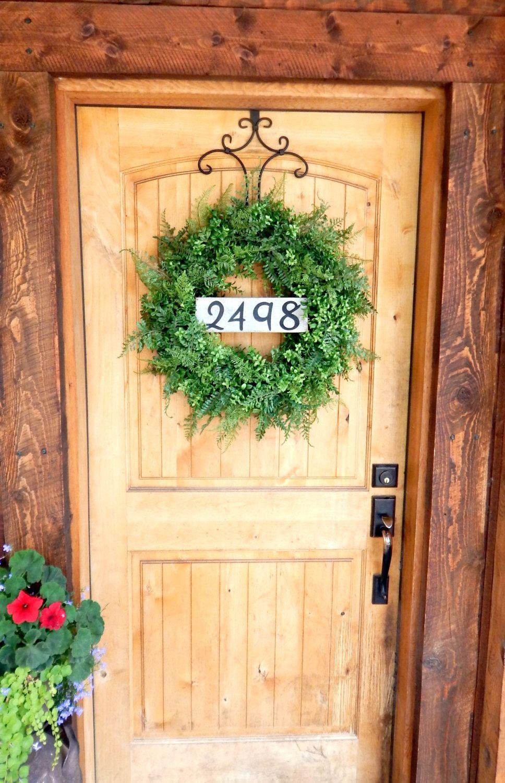 BOXWOOD & FERN Wreath-Summer Wreath-Fall Wreath-Outdoor Wreath ...