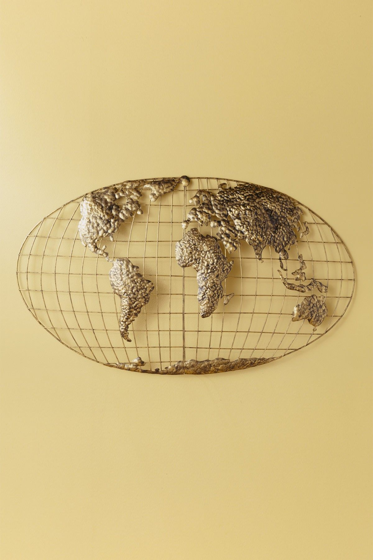 Iron World Map Wall Art | For the Wall | Pinterest | Iron, Walls and ...
