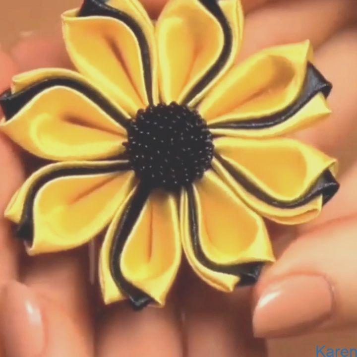 #Blume #diyflower #Zeremonielle Zeremonielle Blume  – Arte com Quiane (Dicas e Moldes de Artesanato)  Flor de cerim    Mach es selbst   #Blume #Satin # Schleife #Brei #Kunsthandwerk #diy #machesselbst–diy