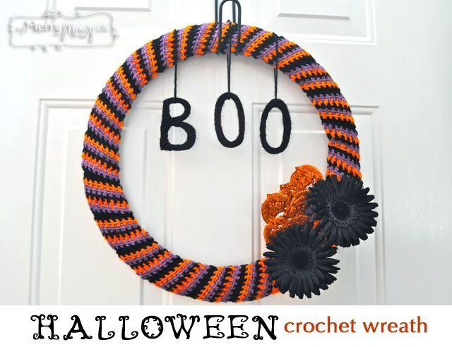 Photo of Halloween crochet wreath tutorial