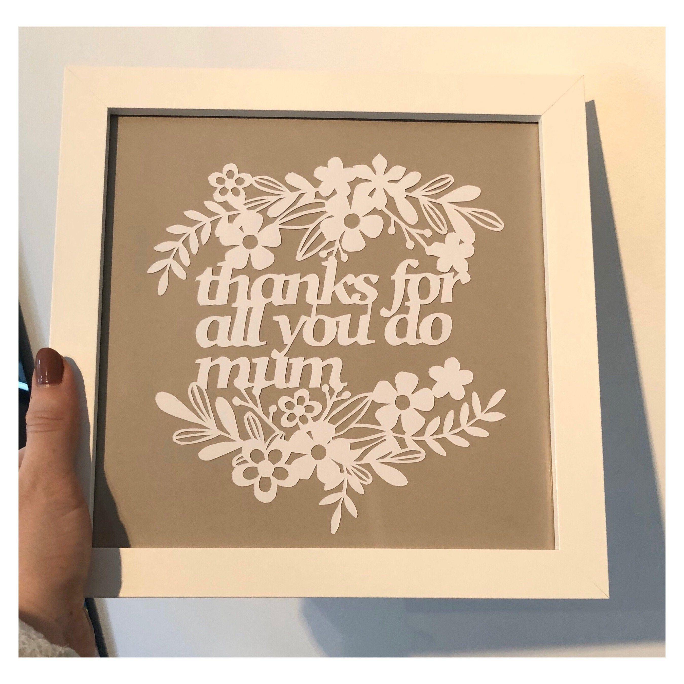 Mothers day gift Papercut Art