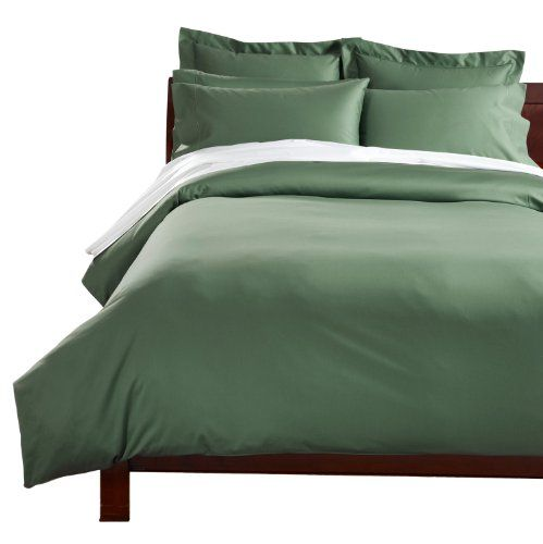 CUDDLEDOWN 400 Thread Count Comforter Cover, King, Ivy