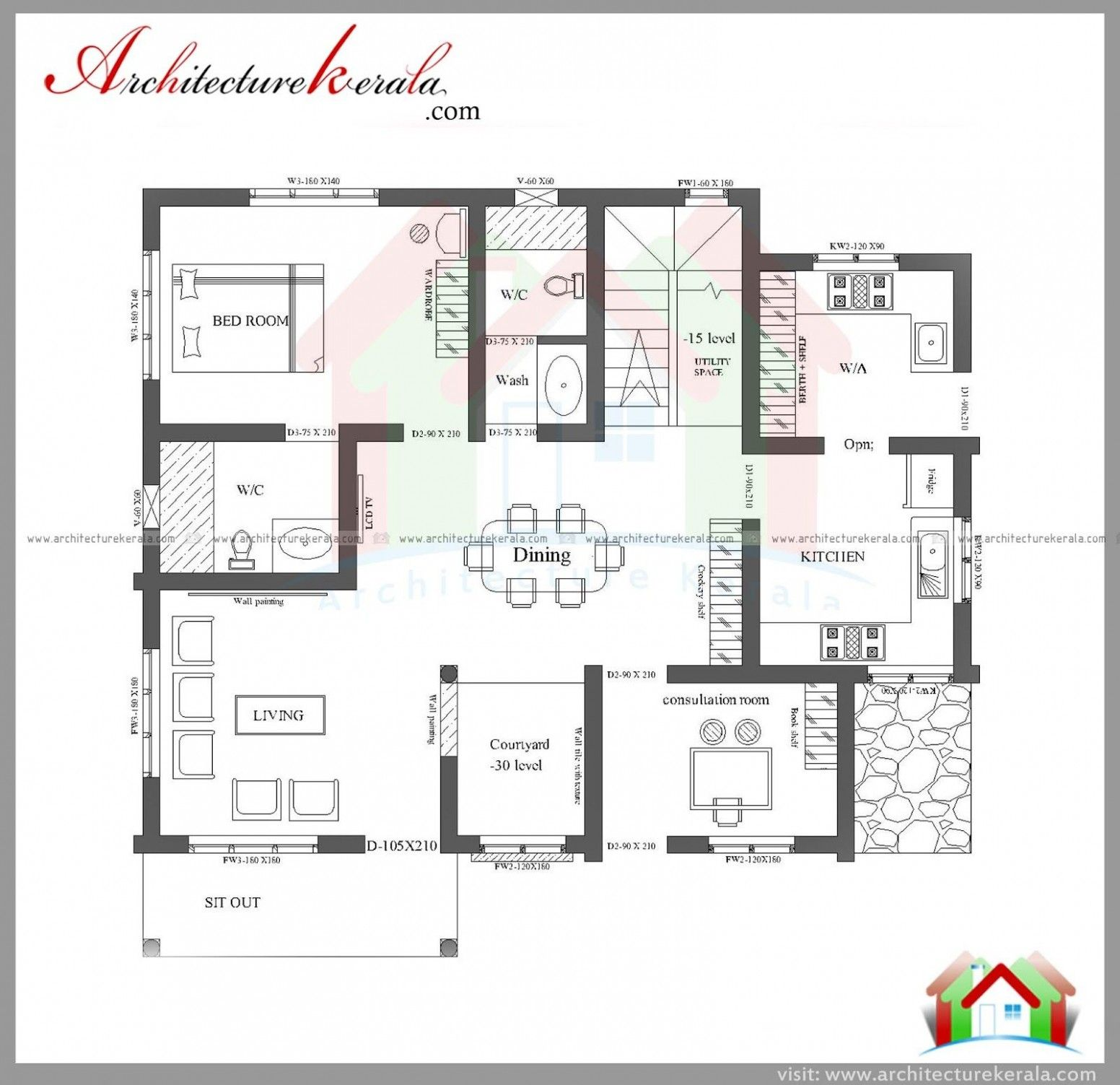 Three Bedroom Floor Plan And Elevation New House Plans Double Storey House Plans Three Bedroom House Plan
