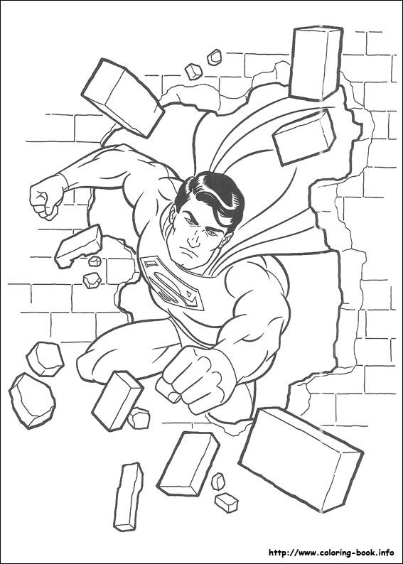 Superman coloring picture | Coloring for kid。 | Pinterest ...