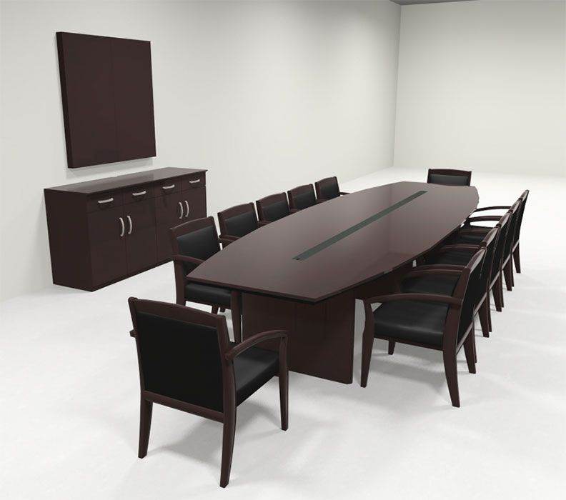 Modern Boat Shaped 12 Feet Veneer Office Conference Table Ro Cor C10 Conference Table Boardroom Table Design Office Furniture Design
