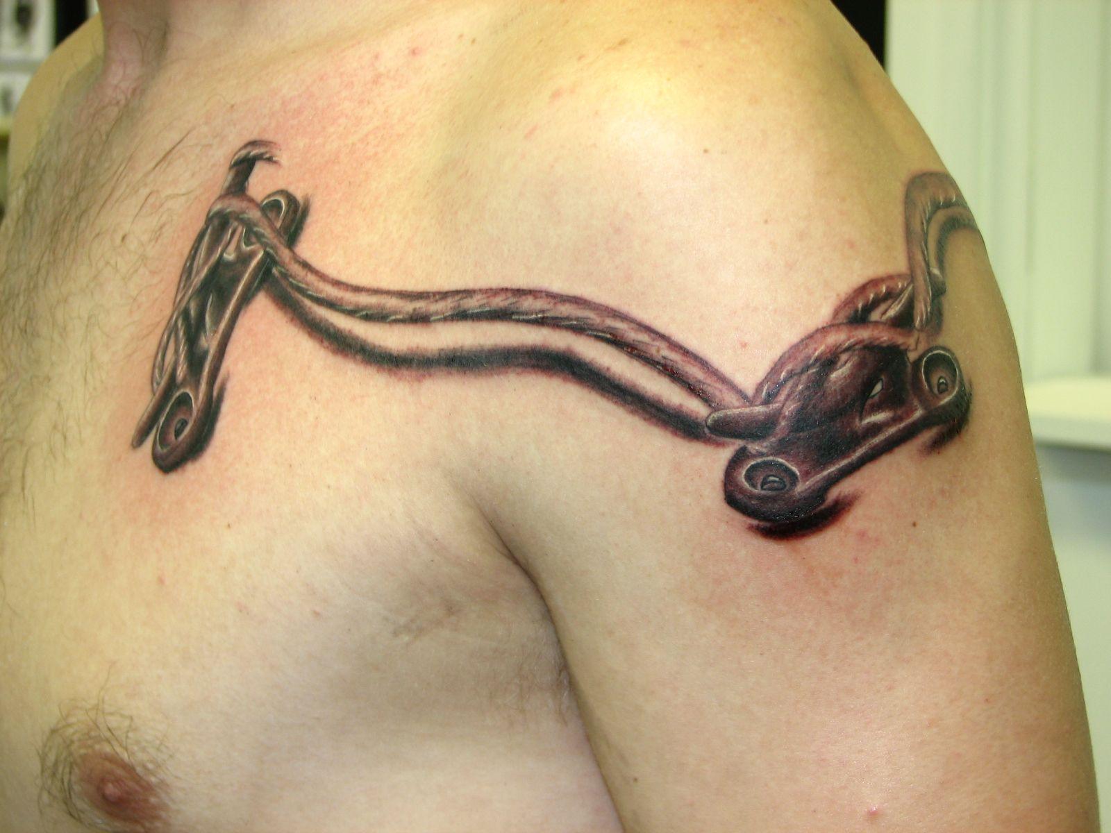 Hook tattoo designs - Unique 3d Tattoo Design 3d Tattoo Boat Cleat Dtattoos