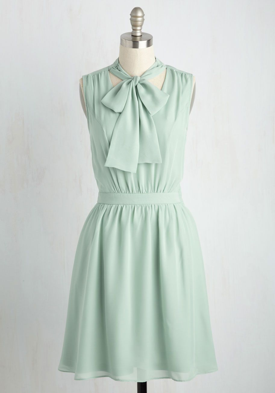Give it Timeless Dress in Soft Sage. Youve patiently awaited a style as sweet as this sage green dress, and now that it's arrived, youll wear it everywhere! #mint #modcloth