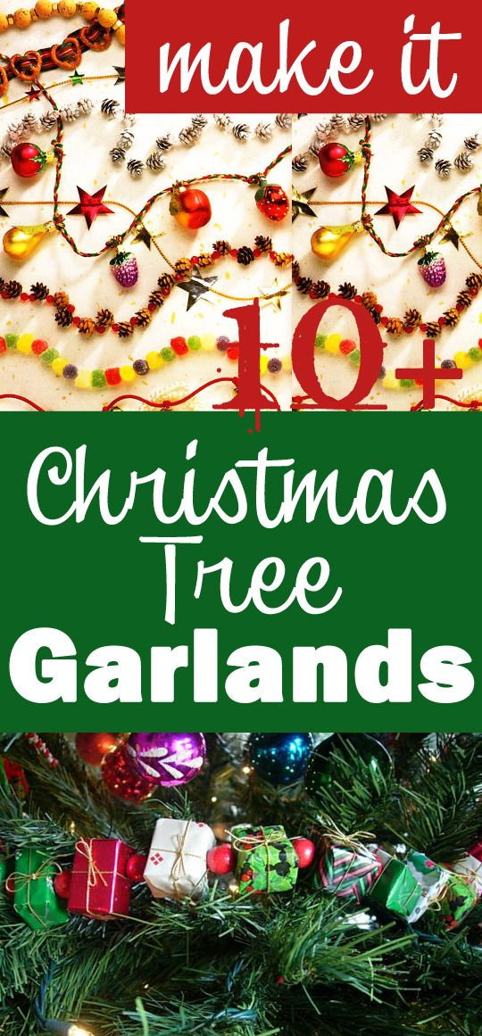 15 Christmas Garland Ideas To Make Christmas Tree Garland Hanging Christmas Tree Diy Christmas Garland