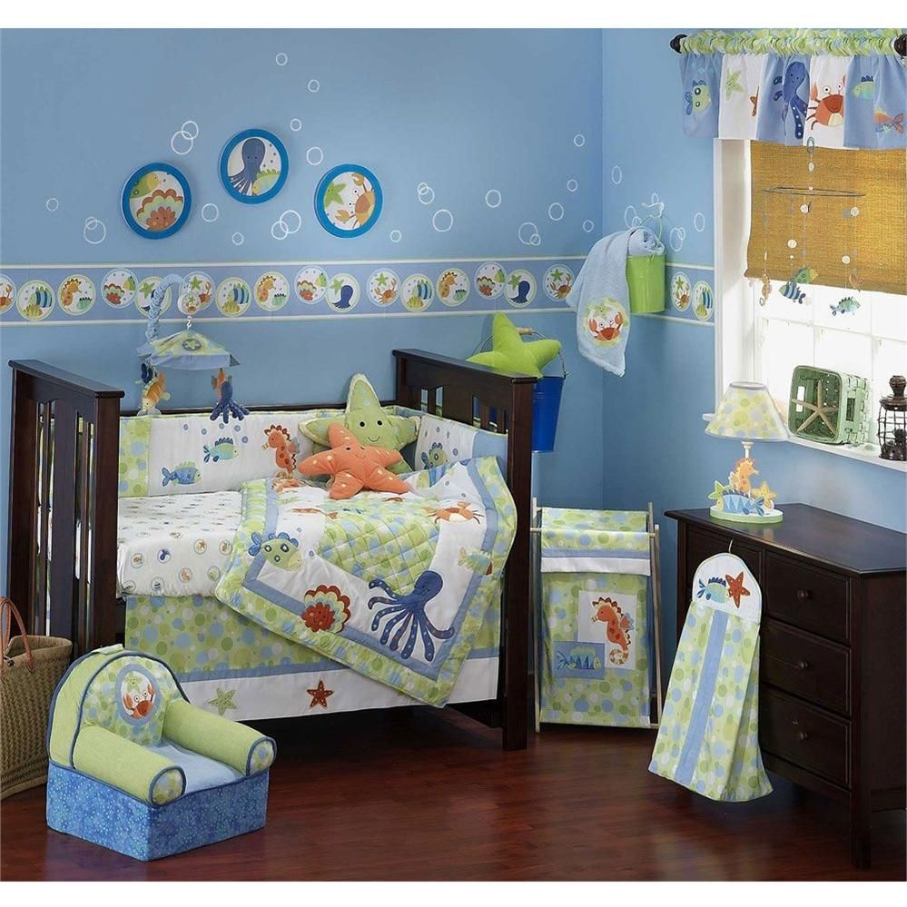 Lambs And Ivy Bubbles 6 Piece Bedding Set Incredible Bedroom Play Room Nursery Decor For Boys S Rooms At Kids Decorating Ideas