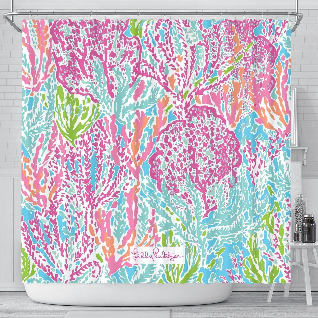 Lets Cha Cha Lilly Pulitzer Shower Curtains Shower Curtains