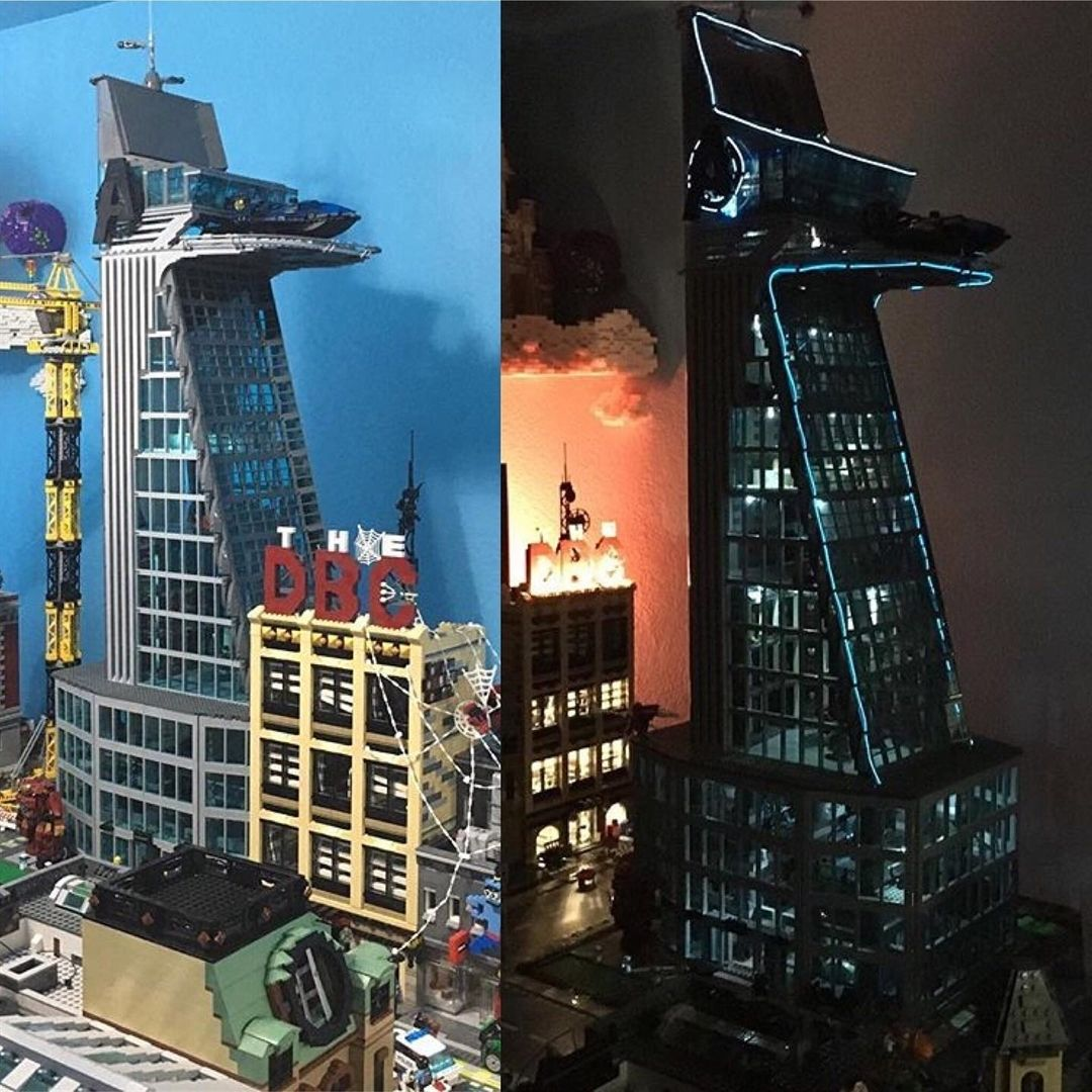 Avengers Tower day/night by @agents_of_moc . ️more amazing ...