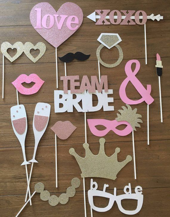 Bridal Shower Photo Booth Props #bridalshowerdecorations