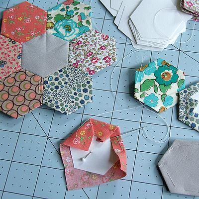 Sechsecke9 | englische Papier Methode | Pinterest | Nähen, Nähen auf ...