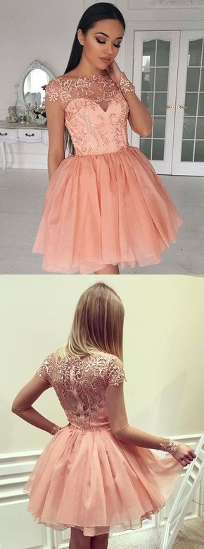 Vestidos De 15 Años Color Coral Cortos Vestidos De