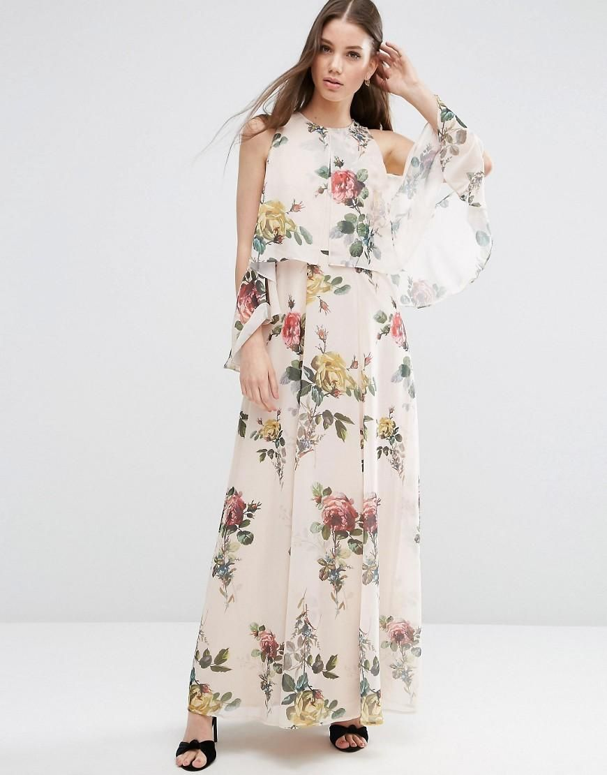 ff0edf39b63c9 ASOS | ASOS Extreme Cold Shoulder Floral Maxi Dress at ASOS | Final ...