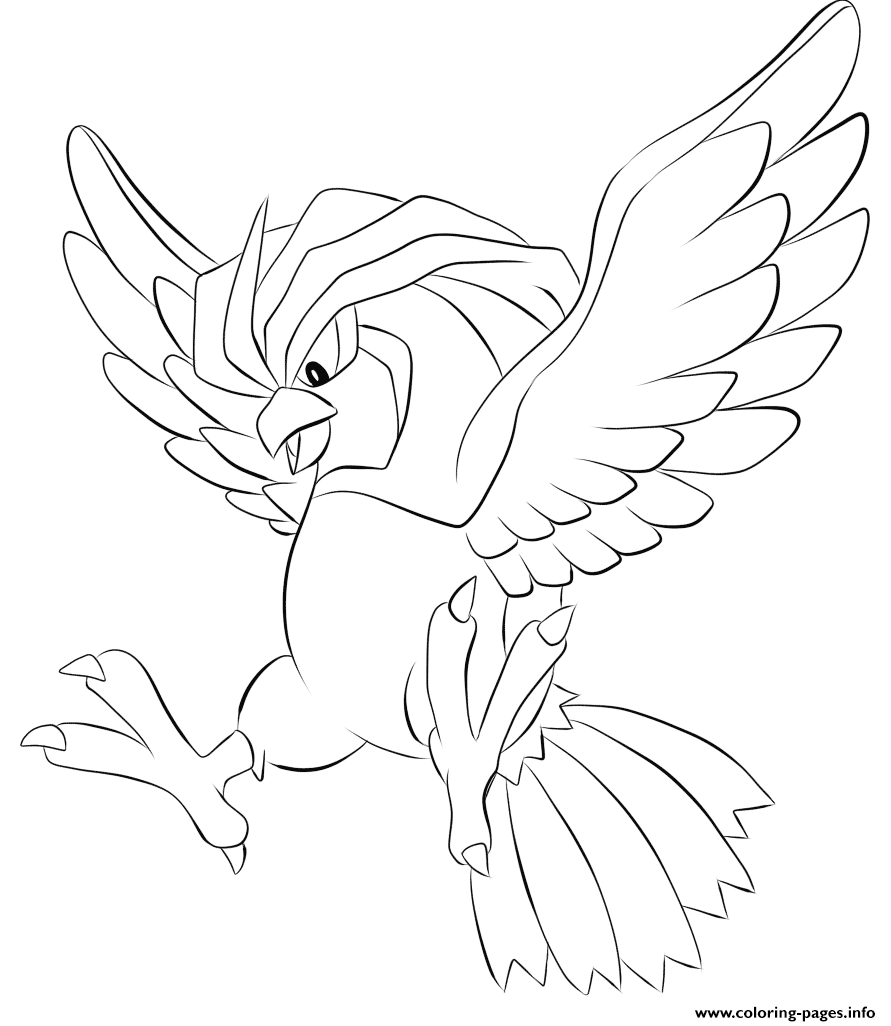 Pokemon coloring pages arcanine - Print 017 Pidgeotto Pokemon Coloring Pages