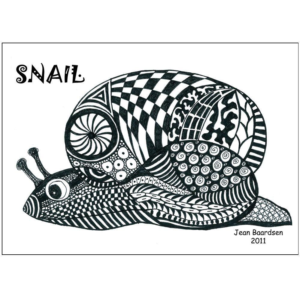 doodle snail