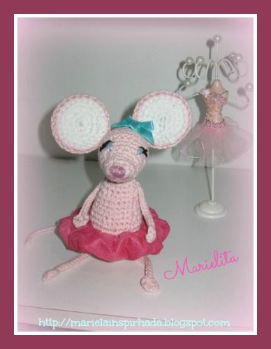 ratoncita bailarina-amigurumi