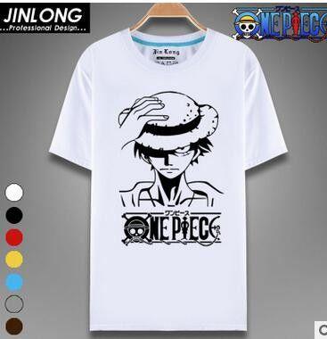 One Piece T Shirt Luffy Straw Hat Japanese Anime T Shirts O Neck
