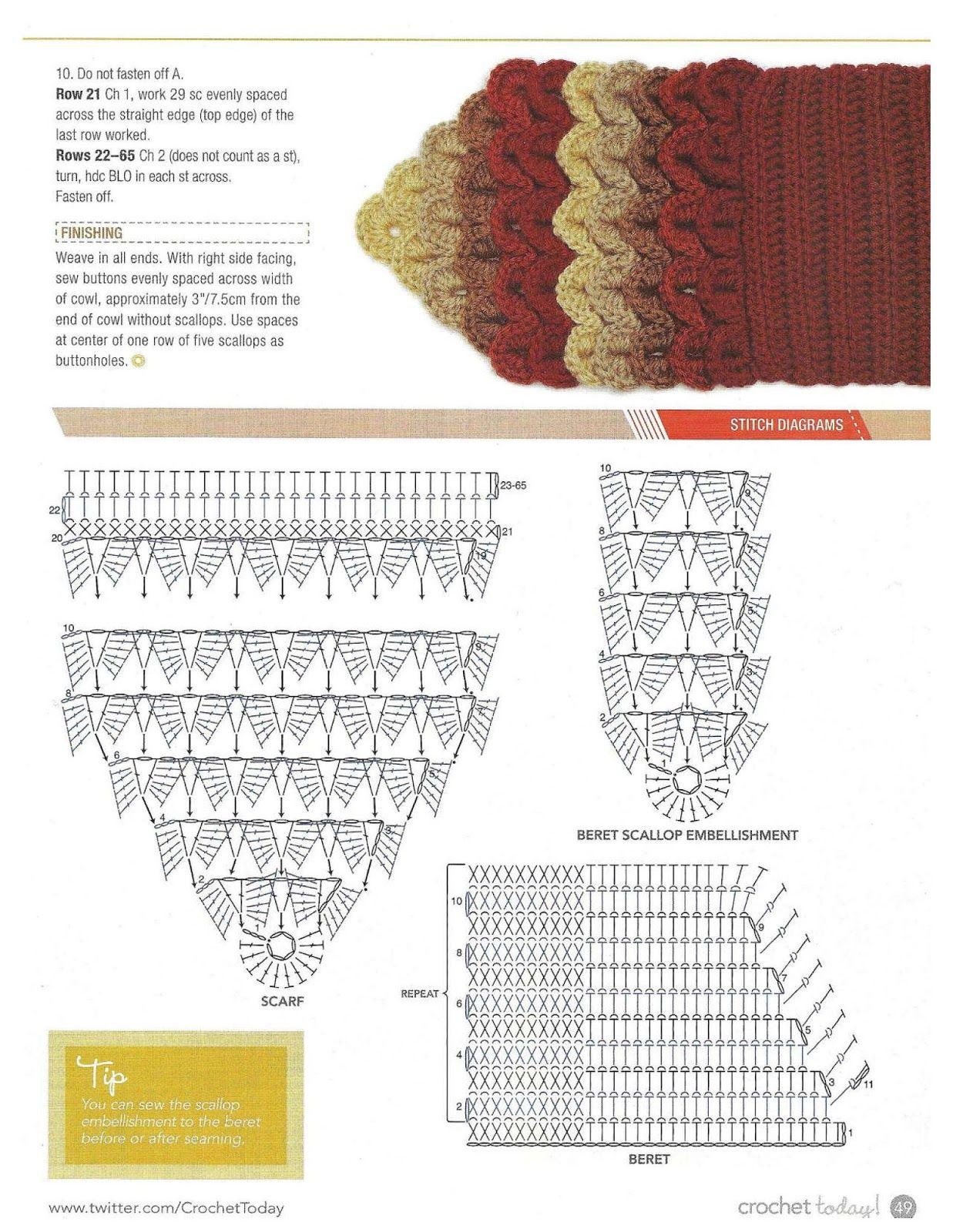 Patrones Crochet: Cuello Bufanda Ondas Patron | CROCHET 2 ...