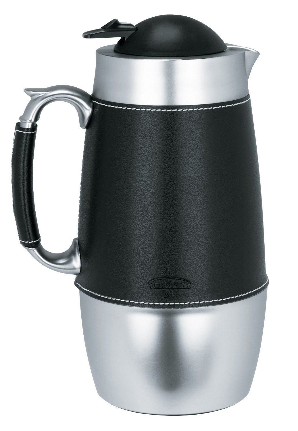 Trudeau Board Room 1 Liter Carafe Stainless Steel with Black Accent