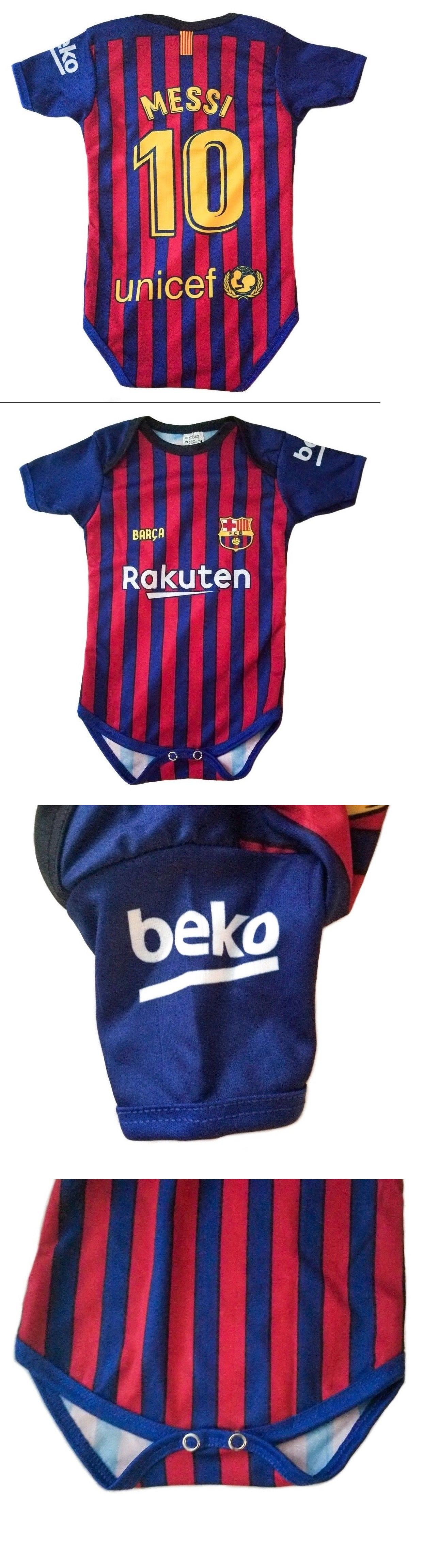 Clothing 33485  Messi Striped 2018 Home Fc Barcelona Barça Baby Jersey  Overall Pañalero Mameluco -  BUY IT NOW ONLY   17.85 on  eBay  clothing   messi ... 96e83fc95