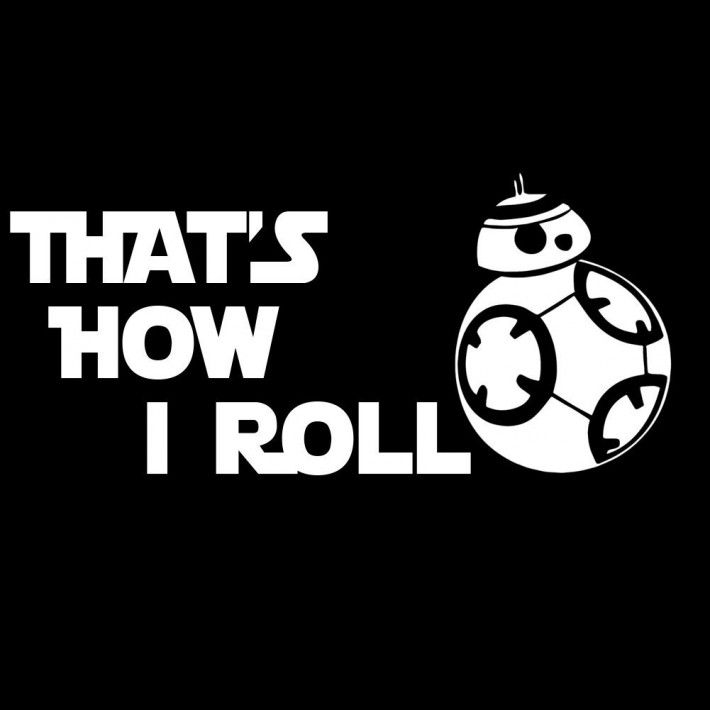 Thats how i roll bb 8 star wars inspired 6″ vinyl car decal